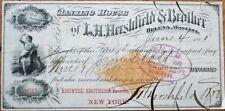 Helena, Montana GIANT 1881 Engraved Check w/Imprinted Revenue - LH Hershfield-MT