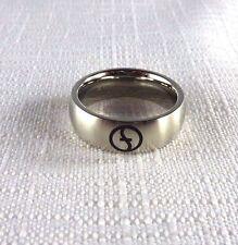 Metallic Stainless Steel Zoppini Men's Band Ring