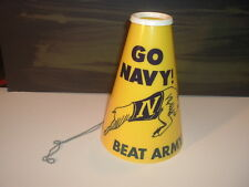 "1960's Army / Navy ""Go Navy Beat Army"" Navy Mascot Goat Megaphone with Chain"