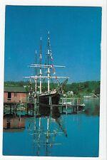 Vintage Postcard Mystic Seaport Ct Joseph Conrad George Stage Training Ship
