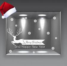 adesivi natale vetrine vetrofanie addobbi natalizi christmas renna a0713