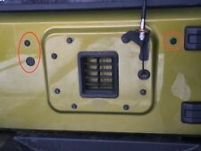 PLASTIC Jeep JK Wrangler Tailgate Plug Set Tramp Stamp Spare Tire Carrier Delete