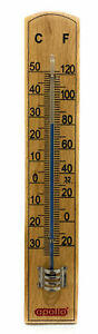 Wooden Wall Thermometer Temperature Garden Home Greenhouse Patio Garage Beech