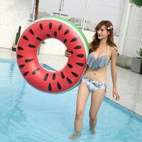 Swimming Pool Beach Inflatable Watermelon Swim Ring Fruit Float Raft Ring Summer
