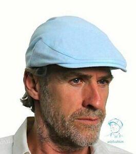 Men's 100% Linen Flat Caps Fully Lined Spring Summer Colours