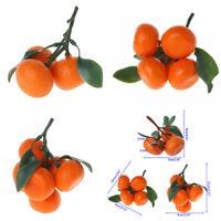 Realistic Lifelike Artificial Oranges Fruit Kitchen Fake Display Food Decor