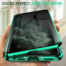 For i Phone 11 Pro Max SE Anti-Spy 360° Double-Side Magnetic Tempered Glass Case