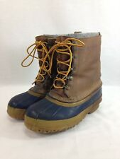 VTG LL Bean PAC Snow Boots Womens 6 Brown Leather Rubber Felt Liners USA