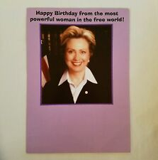 Hillary Clinton Political Birthday Card Powerful Woman Recycled Paper Greetings