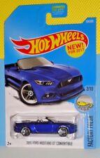 2017 Hot Wheels FACTORY FRESH #104 '15 Ford Mustang GT Convertible -Blue