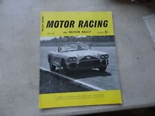MOTOR RACING and MOTOR RALLY Magazine April 1960 British Racing sports car Club