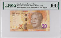 SOUTH AFRICA 20 RANDS ND 2013 P 139 a GEM UNC PMG 66 EPQ NEW LABEL