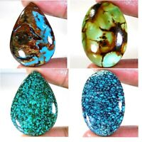 100% Royal Natural Unpolished Tibet Turquoise Mix Cabochon Loose  Gemstone AC205