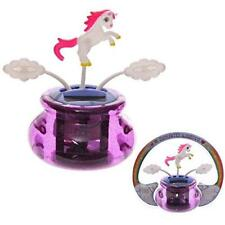 Solar UNICORN and CLOUDS Solar Powered Novelty Pal Car Desk Office Gift Fun Toy