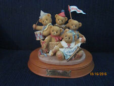 Enesco Cherished Teddies Annie, Brittany, Colby, Danny and Ernie #205354 Nice!