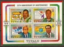 T3152 20 Jahre Unabhängigkeit Tuvalu Bl 64 **/MNH
