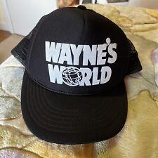 Vintage 90's Wayne's World Saturday Night Live SNL Snapback Trucker Hat Black