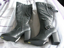 New Look Knee High Zip Synthetic Leather Women's Boots