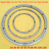 NEW Anti Skid Soft Rubber Tips Stainless Steel Lazy Susan Turntable Swivel Plate