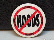 Vintage No Hoods Pin Circle with Slash Logo Autofry Pinback Restaurant Fryer 70s