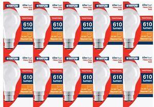 STATUS GLS 60/100W PEARL/CLEAR LIGHT BULB BC/B22 BAYONET CAP 1,2,4,6,OR 10 BULBS