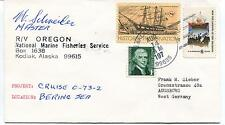 197? R/V Oregon Kodiak Alaska Bering Sea Marine Fisheries S. Polar Cover SIGNED