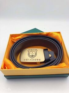 2021's series China Armed Police Force General Genuine Leather Belt,A