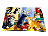 Cute Cats Anti-Slip Gaming Mouse Pad Rubber Mice Mat For Optical Laser Mouse New