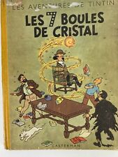 Les Aventures de Tintin Les 7 Boules de Cristal Herge 1948 Hardcover French