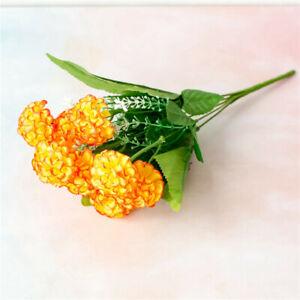 9 Heads Artificial Hydrangea Flowers Silk Bouquet Wedding Party Home Decor