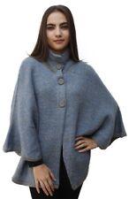 Women's Alpaca Wool Knit Yarn Cape Coat Poncho