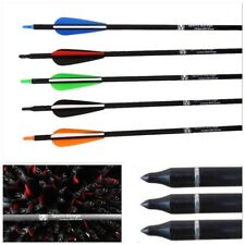 "12 x Fibreglass Archery Arrows Screw on/off Tip  32"", 31.5"",30"", 28"" 26"" & 24"""