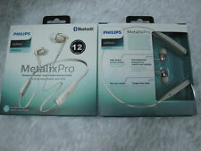 Philips Bluetooth Wireless MetalixPro Neckband In-Ear Headphone Mic SHB5950 WH