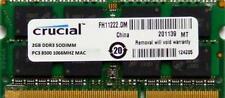 Mémoires RAM Crucial pour DIMM 204 broches, 2 Go par module