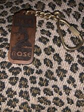 SUPER RARE Wooded Pete Rose Double- Sided Key Chain