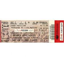 POISON Concert Ticket Full Stub GERMAIN 6/24/07 COLUMBUS OHIO BRET MICHAELS