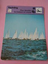 Yachting pour identifier les bateaux en course de A à Z  Fiche Card 1978