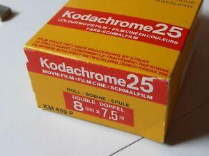 VINTAGE KODAK KODACHROME 25 DOUBLE 8 film Expired 1987 Double 8mm camera film