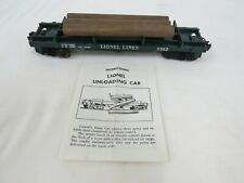 Lionel 3362 Operating LOG Unloading car WITH THREE Original logs O-scale