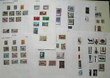 Cyprus QEII Untidy Collection on Album Leaves with range of pictorials,  Stamps