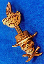 SYDNEY BRONZE CROCODILE 'MIKE' DUNDEE SKULL KNIFE HAT GUITAR Hard Rock Cafe PIN