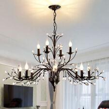 LED Country Chandelier Living Room Branch Ceiling Lamp Bedroom Lighting Fixture