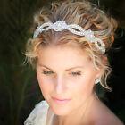 Women Wedding Bride Hairband Lace Pearl Tiara Rhinestone Headband Headdress