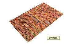 Alfombra de lana y yute 200X300 cm grande para comedor