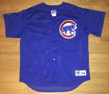 Chicago Cubs MLB Majestic Diamond Collection Stitched Blue Jersey Mens XL