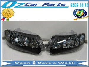 SS HEADLIGHTS NEW LEFT and RIGHT SIDE PAIR TEAR DROP FOR HOLDEN COMMODORE VX VU