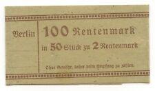 GB455 - Original Banknoten Banderole für 50x 2 Rentenmark Berlin Deutsches Reich
