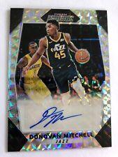 2017-18 Mosaic Prizm Refractor Donovan Mitchell Auto Utah Jazz SP #08/99