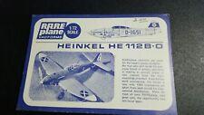 New 1/72 RARE PLANE HEINKEL HE-112B-0 MODEL KIT