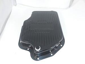 GM Chevy Turbo TH400  Automatic Transmission Pan w/Drain Plug Deep style Black